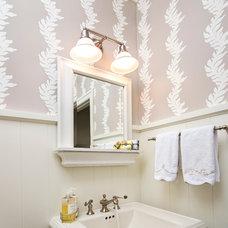 Traditional Powder Room by KLF Interiors LLC