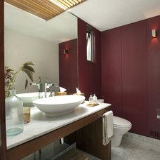 Contemporary Powder Room by vgzarquitectura y diseño sc