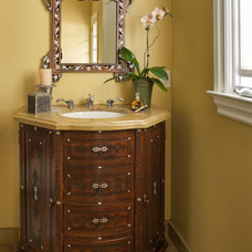 Traditional Powder Room by McKinney Photography