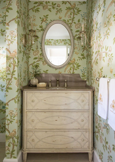 Shabby-chic Style Powder Room by Ggem Design Co.