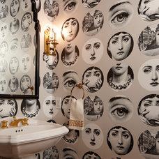Contemporary Powder Room by Cardea Building Co.