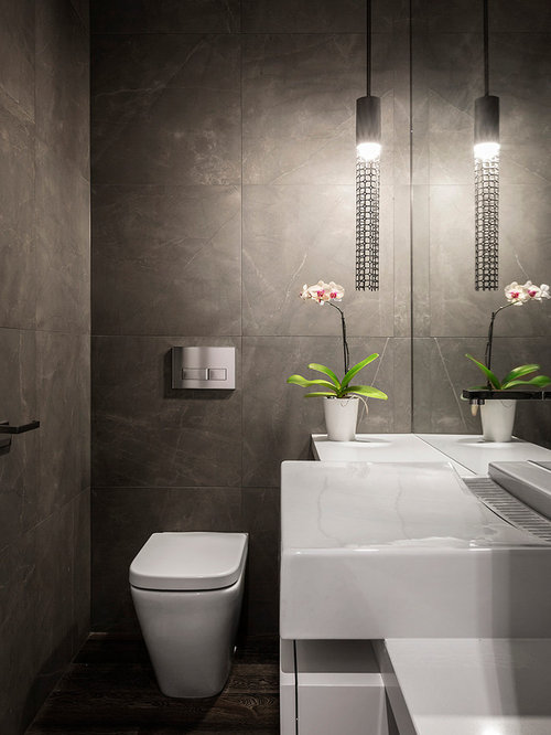 Houzz Cloakroom With Stone Tiles Design Ideas Amp Remodel