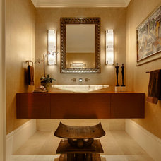 Transitional Powder Room by DesRosiers Architects