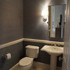 Traditional Powder Room by LME Designs