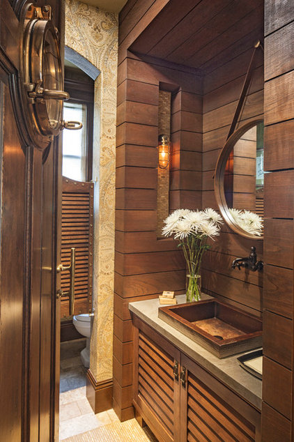 Beach Style Powder Room by Norman Design Group, Inc.