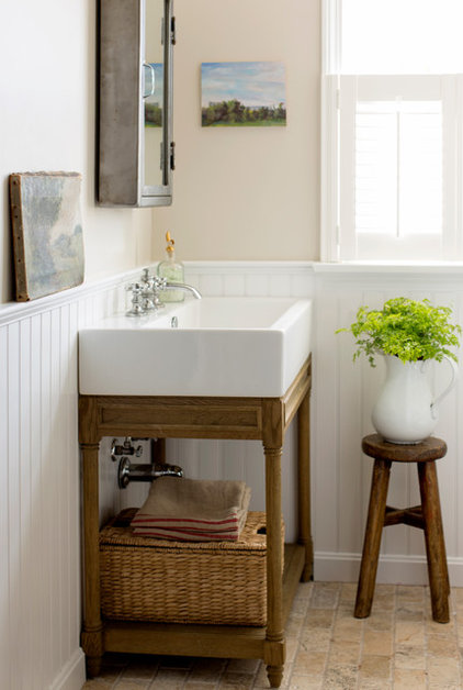 Beach Style Powder Room by kelly mcguill home