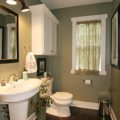 traditional powder room by Koetje Builders Inc