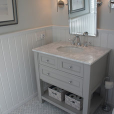 Beach Style Powder Room by LME Designs