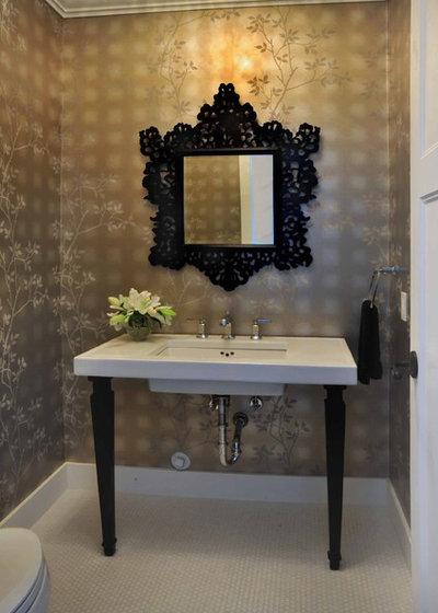 Victorian Powder Room by Enviable Designs Inc.