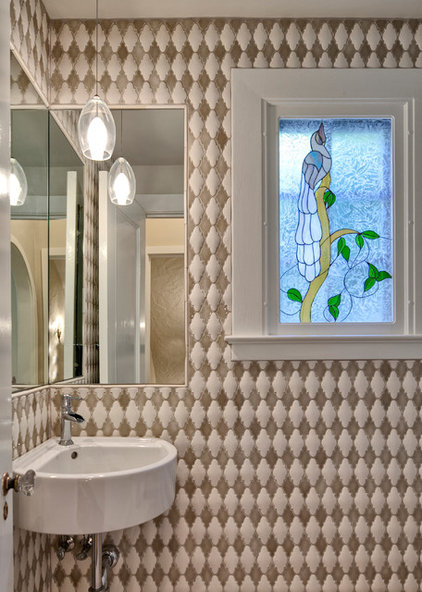 Eclectic Powder Room by Beverly Bradshaw Interiors