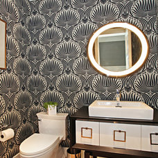 Contemporary Powder Room by Brooke Wagner Design