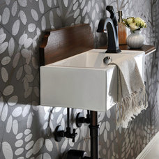 Contemporary Powder Room by Kelley Flynn Interior Design
