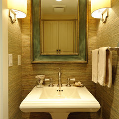 traditional powder room by Regan Baker Design