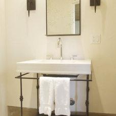 Contemporary Powder Room by Hart Concrete Design