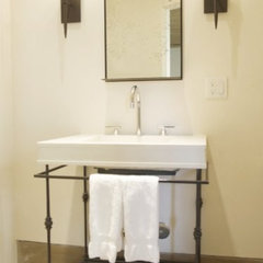 contemporary powder room by Hart Concrete Design