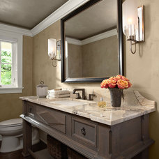 Traditional Powder Room by Casa Verde Design