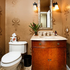 Contemporary Powder Room by Case Design/Remodeling, Inc.