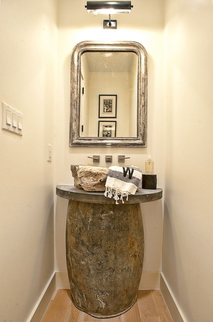 Transitional Powder Room by Greenbelt Construction