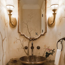Contemporary Powder Room by Catherine Cleare