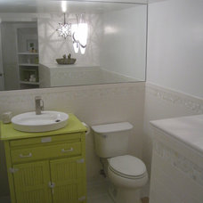 Beach Style Powder Room by Your Favorite Room By Cathy Zaeske