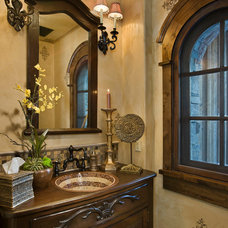Traditional Powder Room by Locati Architects