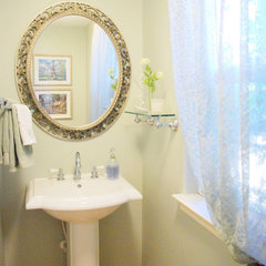 traditional powder room by Centsational Girl