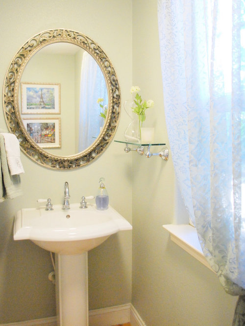 Mirror pedestal sink home design ideas pictures remodel - Powder room sink ideas ...