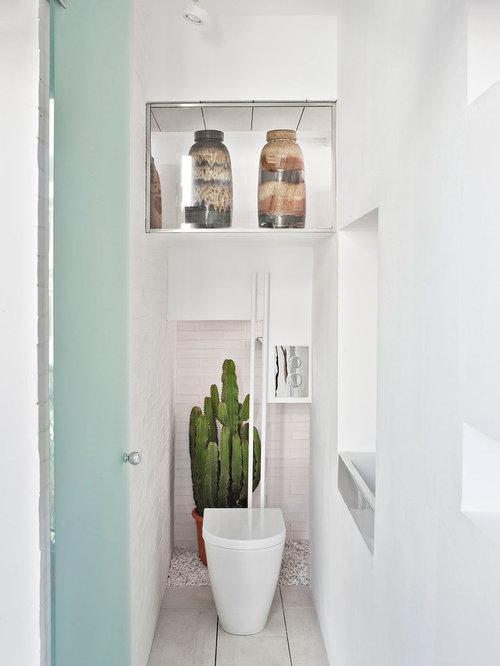 g stetoilette g ste wc mit zementfliesen ideen f r g stebad und g ste wc design houzz. Black Bedroom Furniture Sets. Home Design Ideas