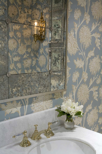 Traditional Powder Room by Charmean Neithart Interiors, LLC.