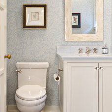 Traditional Powder Room by Erika Bierman Photography
