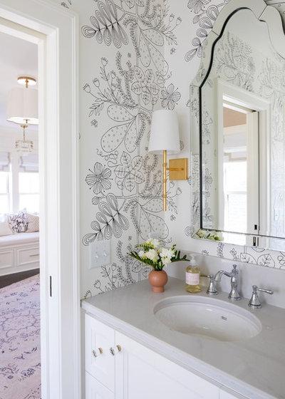 Transitional Powder Room by City Homes, LLC
