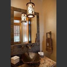 Traditional Powder Room by Hammerton Lighting