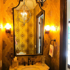 Eclectic Powder Room by Chelsea Design Inc