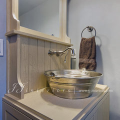 traditional powder room by JJ Interiors