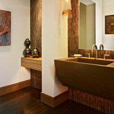 Rustic Powder Room by Ekman Design Studio
