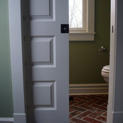 traditional powder room by Hiday Custom Builders, LLC
