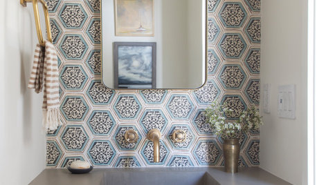 Powder Room Patterns: 10 Hot Looks With Hexagons