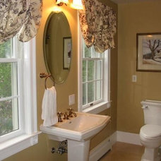 Traditional Powder Room by Sanctuary Design