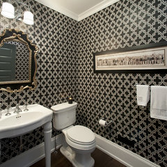 modern powder room by Diane Bishop Interiors