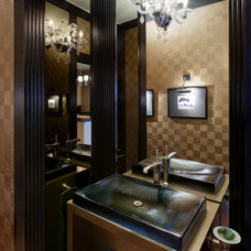 Contemporary Powder Room by Anthony Michael Interior Design, Ltd.
