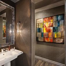 Contemporary Powder Room by David Rance Interiors