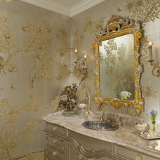 Traditional Powder Room by Hayslip Design Associates
