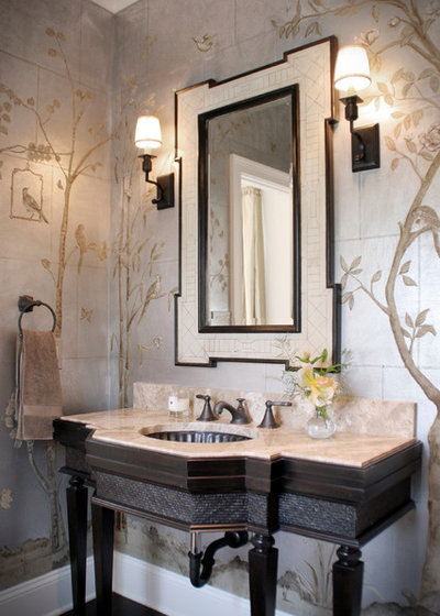 Traditional Powder Room by House of L