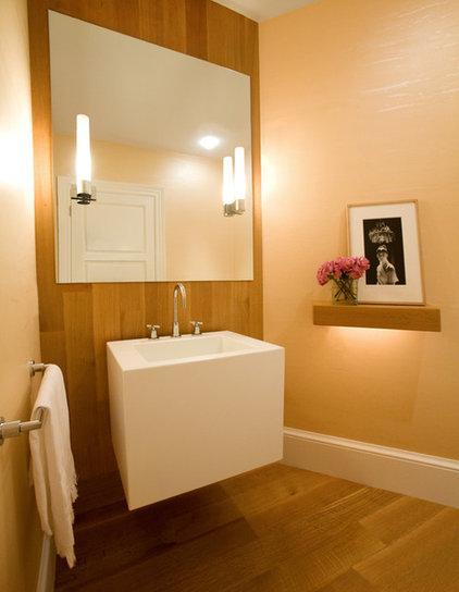 Contemporary Powder Room by Christine Tuttle Interior Design