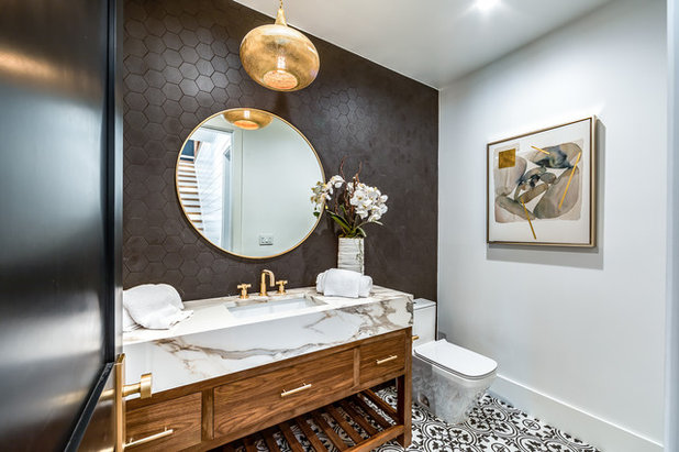 Transitional Powder Room by Extreme Developers, Inc