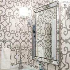 Contemporary Powder Room by Lyla Veinot Designs