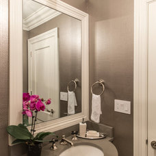 Traditional Powder Room by Palindrome Design, LLC
