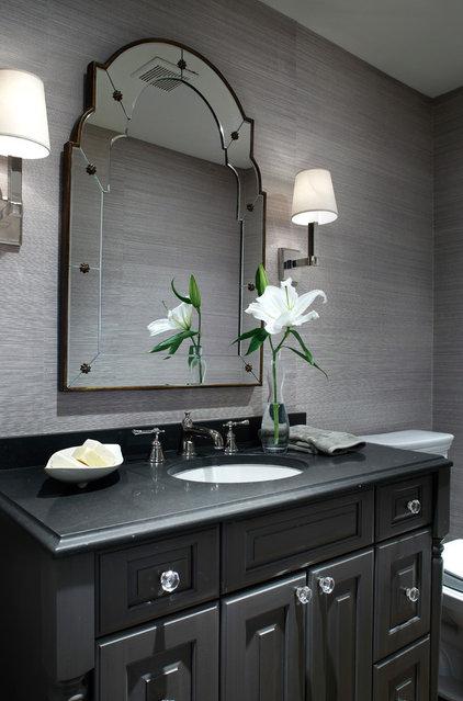 Contemporary Powder Room by kim scodro interiors
