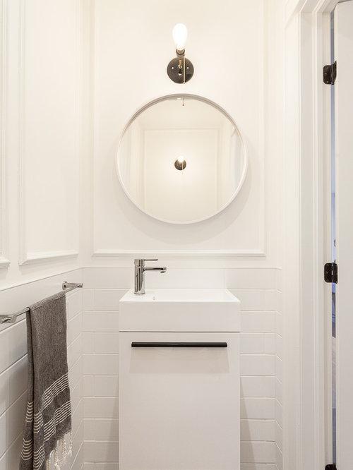 Foto e idee per bagni di servizio bagno di servizio con for Bagno piccolo scuro