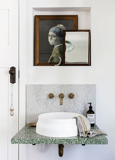 Mediterranean Powder Room by In Residence - Kitchen, Bathroom, Hardware